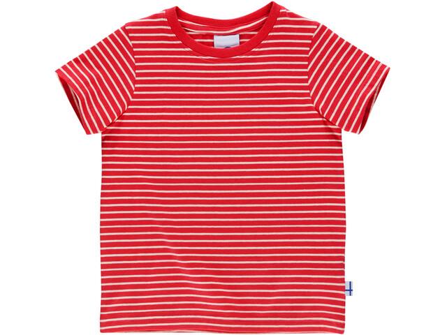 Finkid Supi Bluzka z krótkim rękawem Dzieci, red/offwhite